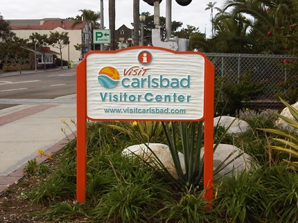 Visit Carlsbad Road Sign 1