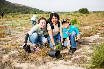 Volunteers At Lake Calavera